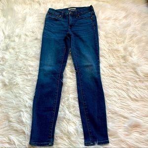 "Madewell 9"" High Rise Skinny Jeans Medium Wash"